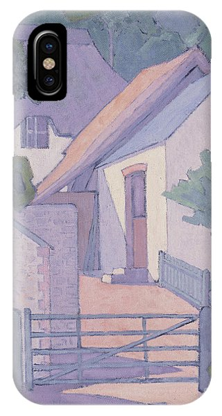 English Village iPhone Case - Morning, The South Downs, 1906  by Robert Polhill Bevan