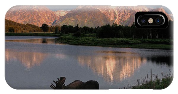 Teton iPhone Case - Morning Tranquility by Sandra Bronstein