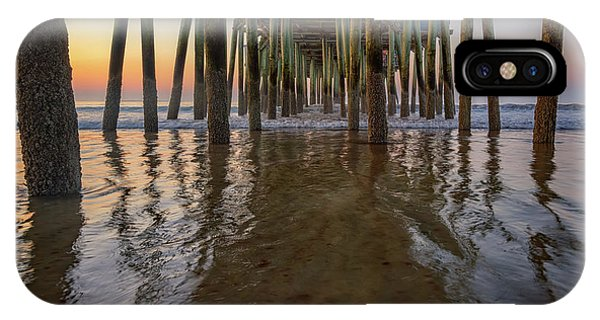 Orchard Beach iPhone Case - Morning Under The Pier, Old Orchard Beach by Rick Berk