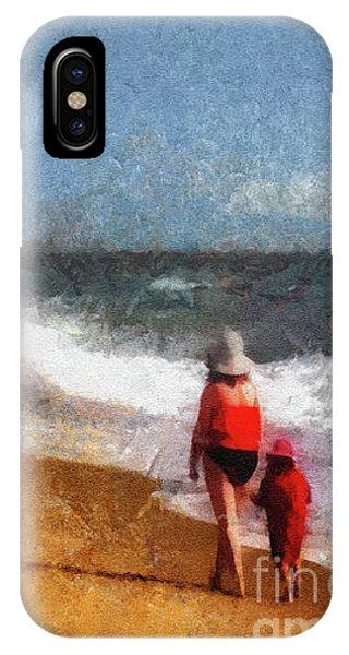 Morning Walk Along The Beach IPhone Case