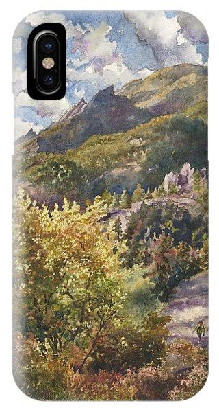 Rocky Mountain iPhone Case - Morning Walk At Mount Sanitas by Anne Gifford