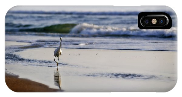 Morning Walk At Ormond Beach IPhone Case