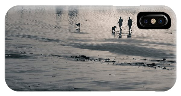 Morning Walk, Gooch's Beach, Kennebunk, Maine IPhone Case