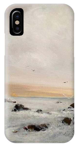 IPhone Case featuring the painting Morning Walk by Helen Harris