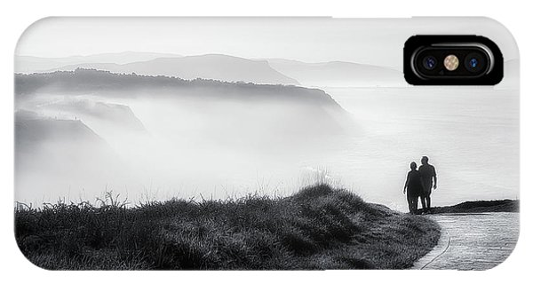 Sea iPhone Case - Morning Walk With Sea Mist by Mikel Martinez de Osaba