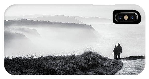 Water Ocean iPhone Case - Morning Walk With Sea Mist by Mikel Martinez de Osaba