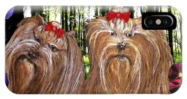 iPhone Case - Morning Yorkies by Michelle Audas