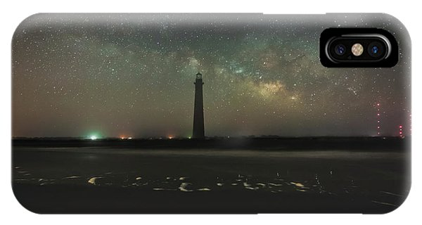 Morris Island Light House Milky Way IPhone Case