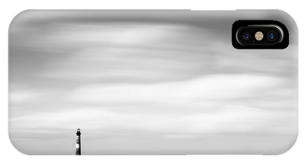 Long Beach Island iPhone Case - Morris Island Lighthouse Bw by Ivo Kerssemakers