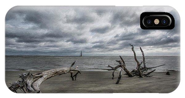 Morris Island Lighthouse IPhone Case