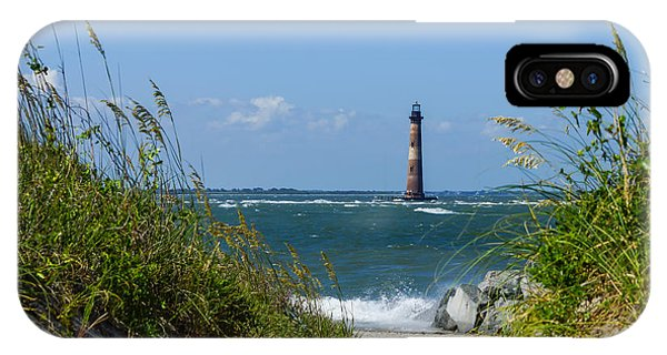 Morris Island Lighthouse Walkway IPhone Case