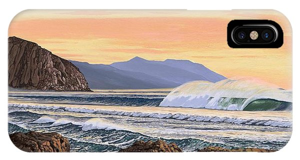 West Bay iPhone Case - Morro Bay California by Andrew Palmer