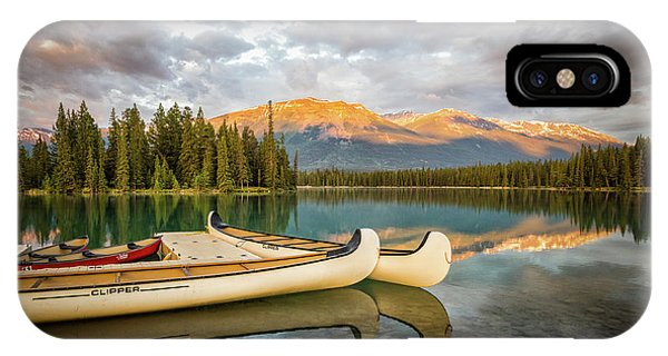 Jasper Lake Canoes IPhone Case