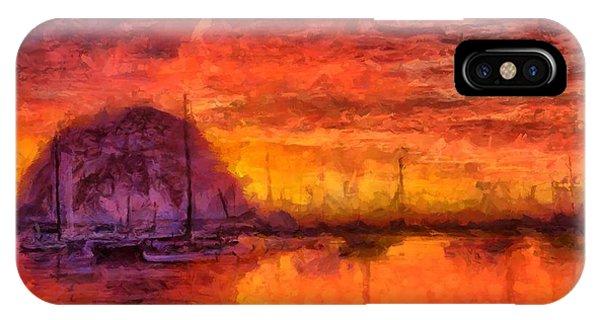Morro Bay Marina IPhone Case