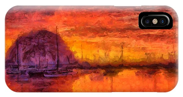 Morro Bay Marina IPhone Case
