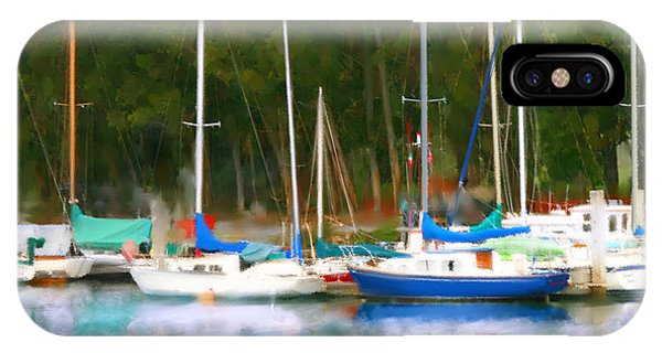 Morro Bay Sail Boats IPhone Case