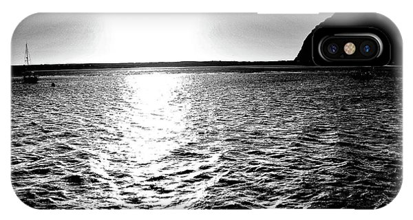 Morro Rock, Black And White IPhone Case