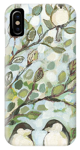 Impressionist iPhone Case - Mo's Chickadees by Jennifer Lommers