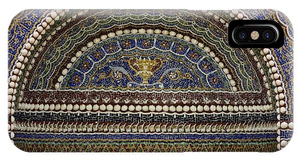 J Paul Getty iPhone Case - Mosaic And Shell Fountain Getty Villa Malibu California by Teresa Mucha