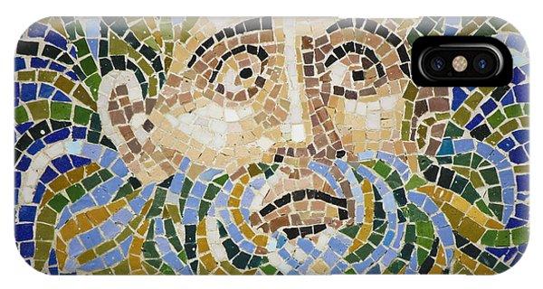 J Paul Getty iPhone Case - Mosaic Face Fountain Detail by Teresa Mucha