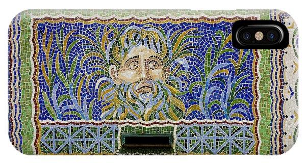 J Paul Getty iPhone Case - Mosaic Fountain At Getty Villa 1 by Teresa Mucha