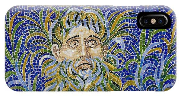 J Paul Getty iPhone Case - Mosaic Fountain Face View 2 by Teresa Mucha