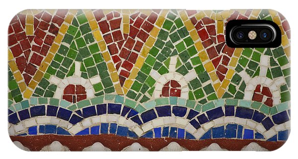 J Paul Getty iPhone Case - Mosaic Fountain Pattern Detail 4 by Teresa Mucha