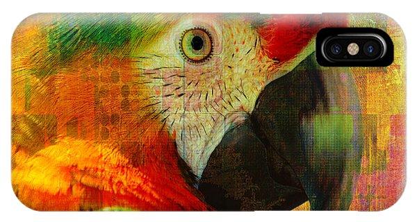 Mosaic Macaw 2016 IPhone Case