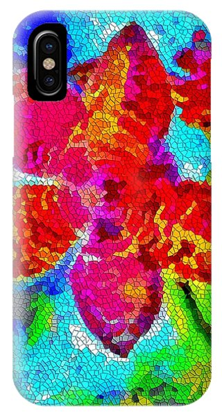 Mosaic Orchid 2 IPhone Case
