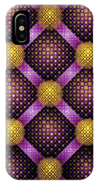 Mosaic - Purple And Yellow IPhone Case