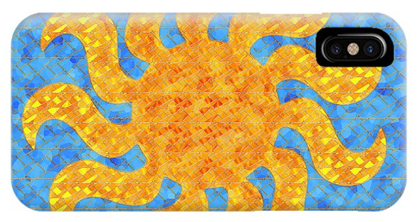 Mosaic Stained-glass Of The Sun IPhone Case