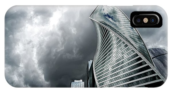 Moscow City And Storm IPhone Case