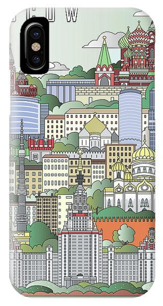 Moscow City Poster IPhone Case
