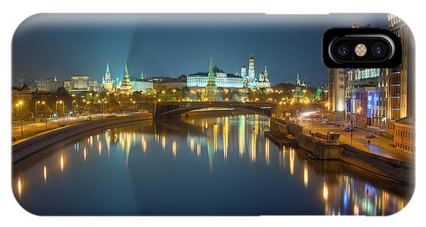 Moscow Kremlin At Night IPhone Case