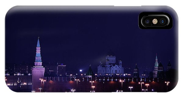 Moscow Skyline iPhone Case - Moscow Kremlin by Margarita Buslaeva
