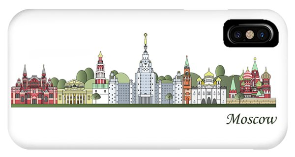 Moscow Skyline Colored IPhone Case