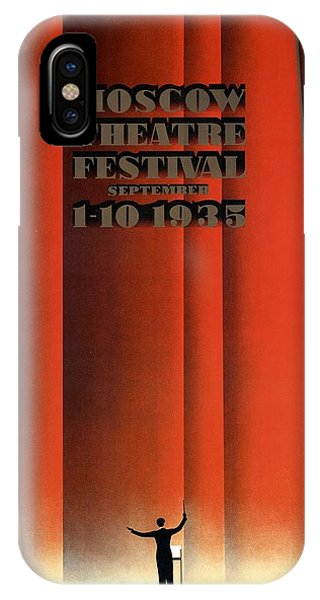 Advertising iPhone Case - Moscow Theatre Festival 1935 - Russia - Retro Travel Poster - Vintage Poster by Studio Grafiikka