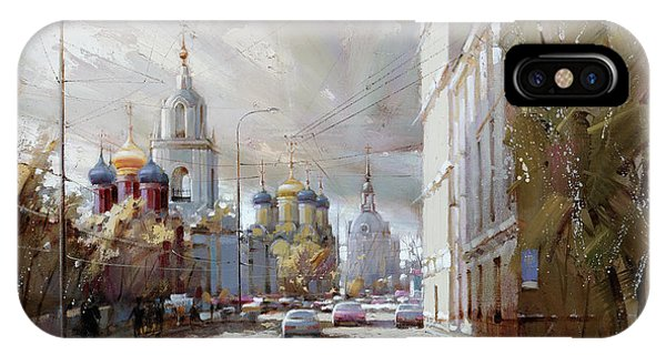 Moscow. Varvarka Street. IPhone Case