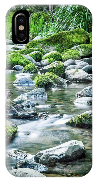 New Leaf iPhone Case - Mossy Forest Stream by Az Jackson