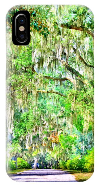 IPhone Case featuring the photograph Mossy Oak Pathway H D R by Lisa Wooten