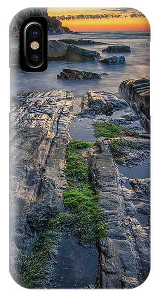 Mossy Rocks At Bald Head Cliff  IPhone Case