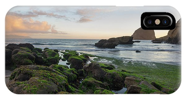 Mossy Rocks At The Beach IPhone Case
