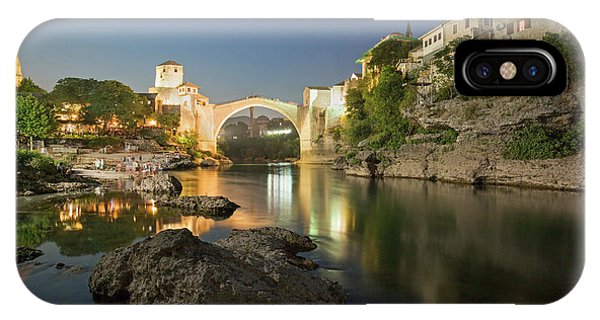 Mostar iPhone Case - Mostar By Night by Louise Welcome