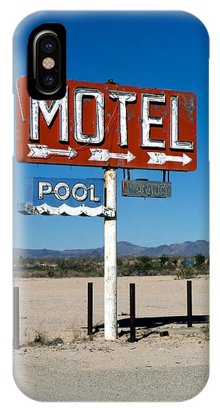 Motel Sign On I-40 And Old Route 66 IPhone Case