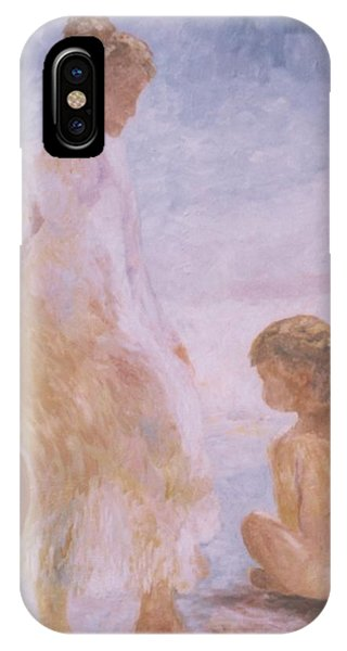Mother And Baby On The Beach IPhone Case