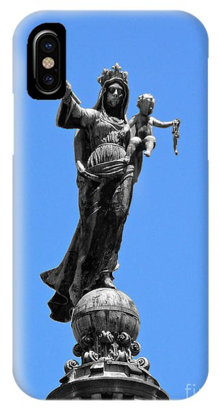 Mother And Child Rooftop Statue IPhone Case