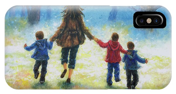My Son iPhone Case - Mother And Three Sons  by Vickie Wade