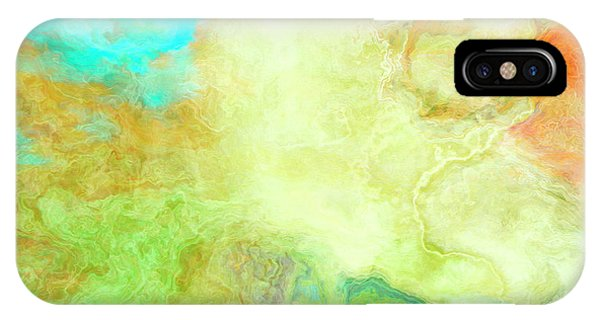 Mother Earth - Abstract Art - Triptych 1 Of 3 IPhone Case