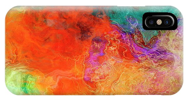 IPhone Case featuring the digital art Mother Earth - Abstract Art - Triptych 2 Of 3 by Jaison Cianelli