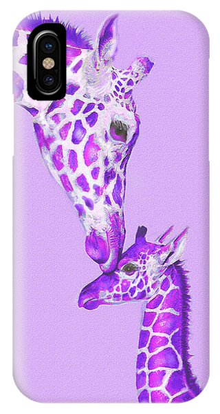 Giraffe iPhone Case - Mother Giraffe by Jane Schnetlage
